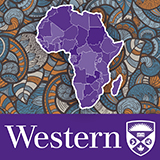 """Western University logo with stylized Africa graphic"""